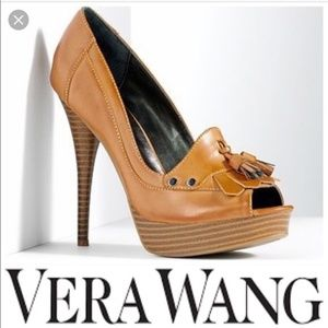 Cognac Simply Vera Wang Tassel Stilettos 8.5